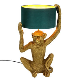 Gold monkey table light
