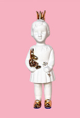 White mini doll with golden crown