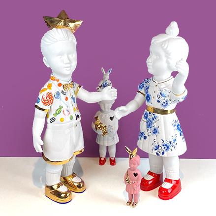 """Keramieken XL pop """"Piet"""" van Lammers en Lammers"""