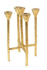 Goud metalen design kandelaar