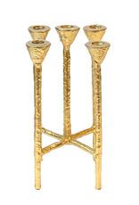 Gold metal modern candelabra