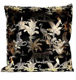 Gold jungle cushion