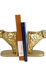 Gouden luipaard set boekensteunen