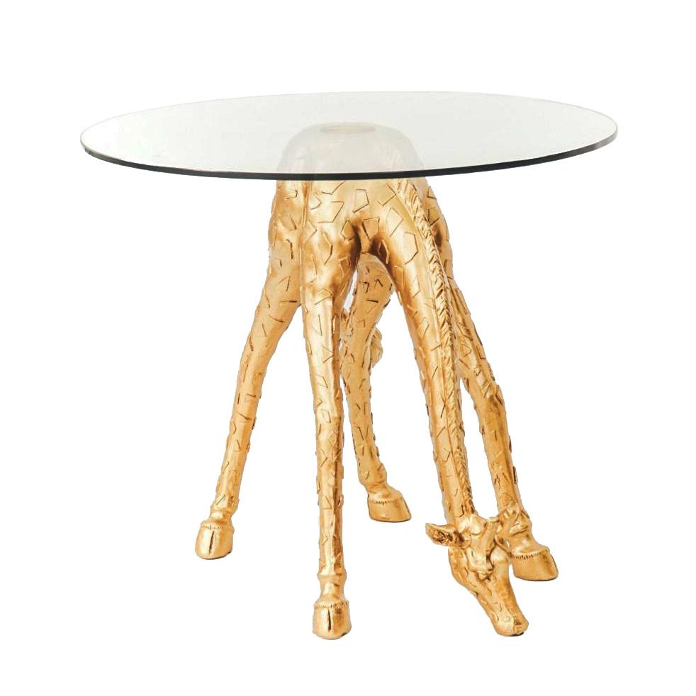 Gold giraffe side table