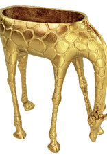 Grote gouden giraffe plantenhouder