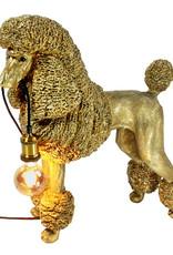 Grote gouden poedel hond lamp