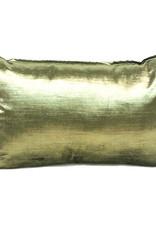 Green rectangular velvet sofa cushion