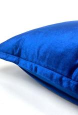 Blauw sierkussen van fluweel