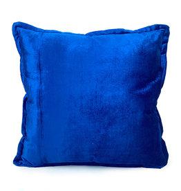 Blauw fluweel sierkussen