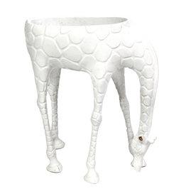Giraffe plantenhouder / Wit