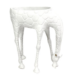 Giraffe planter / White