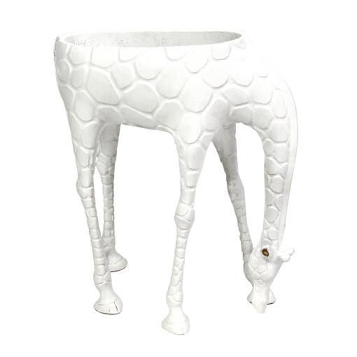 Grote witte giraffe plantenhouder