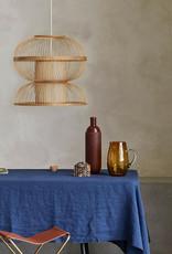 Grote bamboe houten design hanglamp