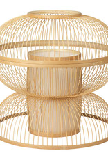Large bamboo wooden pendant light