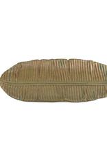 Keramieken schaal in de vorm van een blad