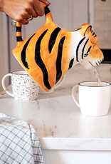 Ceramic tiger jug or vase