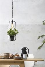 Modern design pendant light with planter