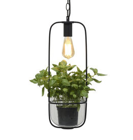 Lamp with planter