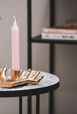 Gold hand candlestick