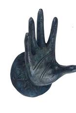 Metalen wandhaak in de vorm van een hand
