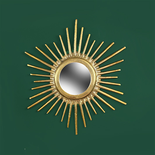 Gold sunbeam mirror