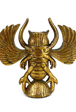 Gold scarab insect candlestick