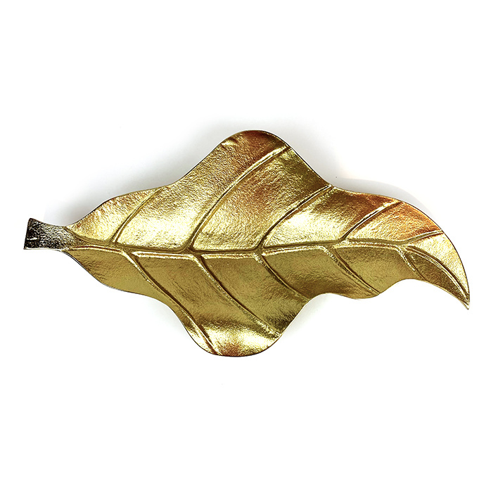 Gold banana leaf dish