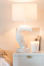 Witte toekan vogel tafellamp