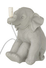 Grey elephant childrens room table lamp