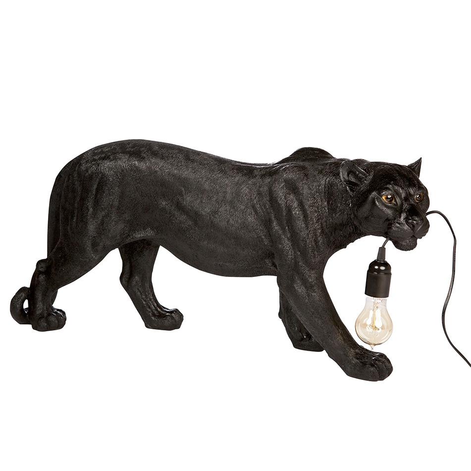 Black leopard lamp