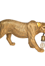 Gold leopard table or floor lamp