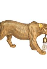 Gouden luipaard tafellamp of vloerlamp