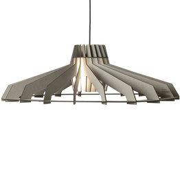 Houten hanglamp / Grijs