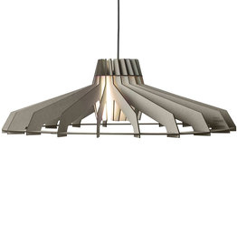 Wooden pendant light / Grey