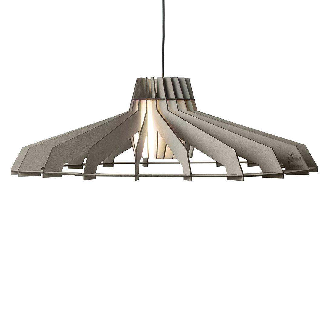 Large wooden DIY pendant light