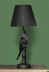 Black parrot lamp