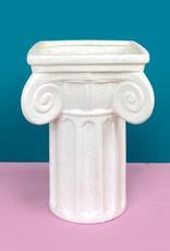 Hippe Romeinse zuil vaas
