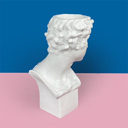Roman David statue bust vase