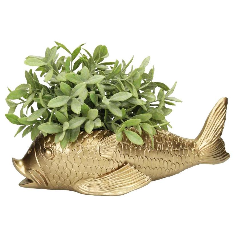 Gouden vis bloempot