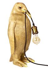 Gouden pinguïn tafellamp