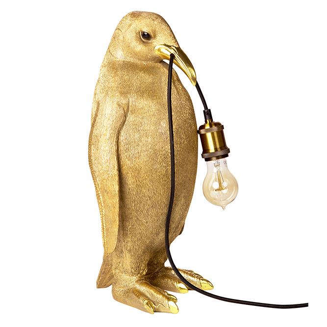 Gold penguin bird lamp