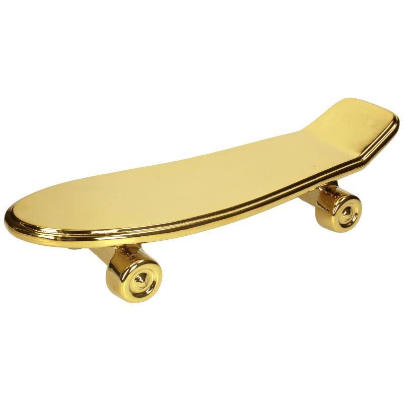 Gold ceramic skateboard plate