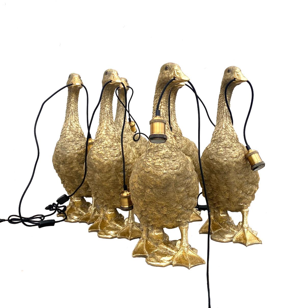 Gouden gans tafellamp