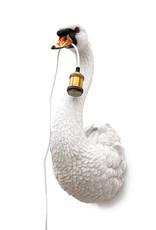 Witte zwaan wandlamp