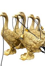 Gold goose bird lamp