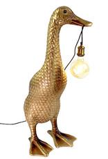 XL gouden eend vloerlamp