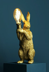 Gold hare lamp