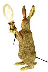 Gouden haas lamp