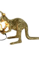 Gouden kangoeroe tafellamp