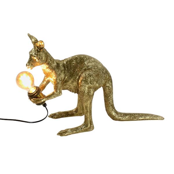 Gold kangaroo lamp